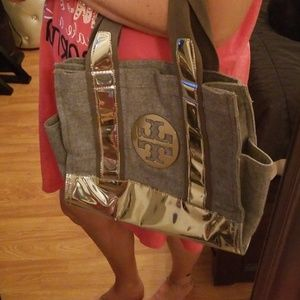 Tory Burch Silver Tote
